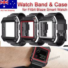 Rugged Protective Case With Silicone Wrist Strap Bands for Fitbit Blaze Watch