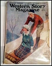 Pulp Magazine: WESTERN STORY January 7, 1922. Max Brand serial as David Manning.