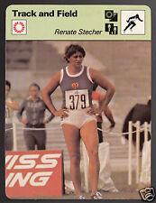 RENATE STECHER East Germany Sprinter Track & Field 1979 SPORTSCASTER CARD 58-11