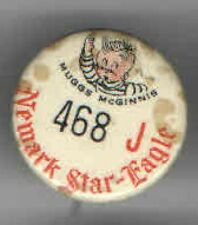 Vintage pin MUGGS McGINNIS pinback Newark Star Eagle NEWSPAPER