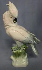 Kakadu,Haubenkakadu Vogelfigur porzellanfigur porzellanvogel parrot figur