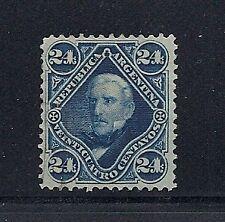 ARGENTINA 1887 Scott 56 24c BLUE VF UNUSED no gum