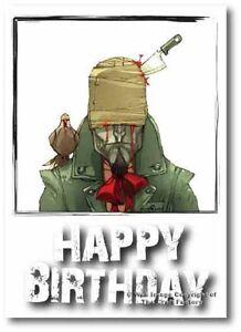 Birthday Card -  Mad and Rad Range  Captain Pigeon PB09