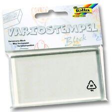 Variostempel Block transparenter Acrylblock für Silikonstempel 58x102x10 mm