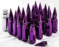 "20"" 12X1.25 Aodhan XT92 SPIKED Lug Nuts Purple FIT INFINITI G20 G25 G35 G35 G37"