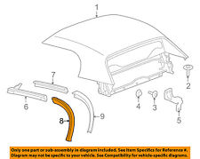 Convertible/soft Top-Rear Weatherstrip Weather Strip Right 19152964