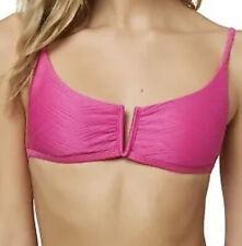 New listing O'Neill Saltwater Solids NEON PINK Textured V Wire Bikini Swim Top Size XL NWT