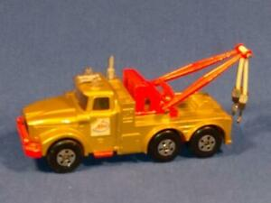 1969 Matchbox Super Kings Scammel Heavy Wreck Truck K-2 Esso Gold Gently Used