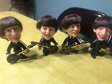 All Four Beatles Vinyl Figurines With Hair From 1964 Great Condition