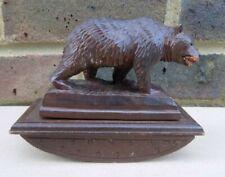Vintage Black Forest Bear Ink Blotter