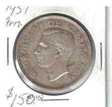 1951 Canada 1 dollar Arn. .800 silver