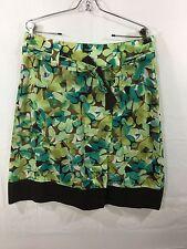 HARVE BENARD Skirt Knee Length 100% Cotton Woman's Size 12 Floral EUC