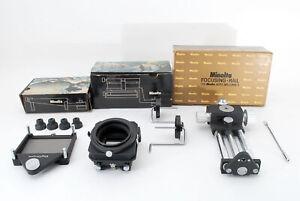 focusing rail,slide copier,macro stand for minolta auto bellows 1 Exc #796331