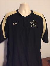 Nike Men's Large Vanderbilt Pullover Black w/Team Logo, Pockets, Vented Arms