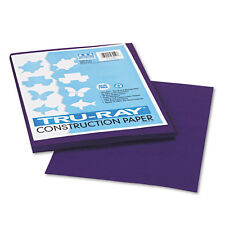 Pacon Tru-Ray Construction Paper,  9 x 12, Purple, 2 Packs of 50 Sheets