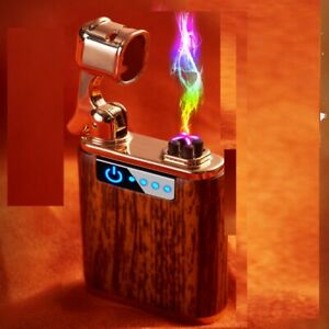 USB LIGHTER. Wooden Case DOUBLE ARC ,PLASMA . WIND PROOF, NEW YEAR PRESENT+BOX !