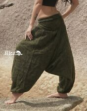Warm Harem Pants Hippie Khaki Yellow Yoga Cashmilon Festival Gypsy Soft Comfy