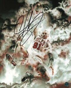 "Dennis Rodman Signed Photo Pro NBA Basketball Player ""the Worm"" Chicago Bulls"