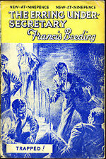 The Erring Under-Secretary by Francis Beeding-Vintage UK PB-Reginald Heade-1937