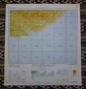 Map of Port Elizabeth, South Africa Army Map Service 1962