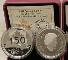 1867-2017 Special Edition Proof Pure Silver Dollar Canada Our Home & Native Land