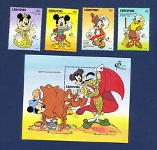 LESOTHO - 897-901 - VF MNH - Disney - Spanish Costumes - Bull Fight -