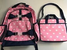 Pottery Barn Kids Large Backpack + Lunch Bag + Container/ Hearts
