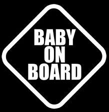 """BABY ON BOARD"" vinyl SAFETY decal sticker JDM hella flush,Hot Rod"
