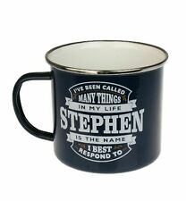 Stephen Camping Enamel Tin Metal Mugs Cups Outdoor Gardening Picnic New