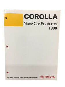 Toyota New Training Manual Car Features 1998 Book Corolla Models