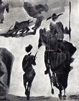 PABLO PICASSO FINE PRINT with COA. Uniquely Haunting Rare Pablo Picasso 1960 Art