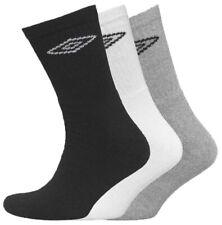 12 Pairs Mens Official Umbro Cotton Black,White,Grey Sports Socks, UK Size 6-11