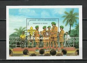 S14382) Grenada 1985 MNH Scout S/S