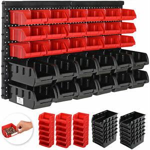 Storage Bin Kit 30Pcs Large Wall Mounted Garage Tool Boxes Rack Board Organiser