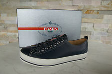 Prada talla 39,5 5,5 sneakers schnürschuhe zapatos Shoes Blue + white nuevo PVP 295 €