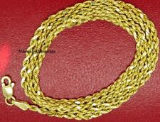 """""""10k Yellow Gold"""", Men, Women, Hollow High Polished Rope Chain 10kt 2.5mm 24 """""""