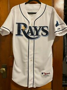 Tampa Bay Rays Authentic Majestic Double Knit Home Jersey Sz 40