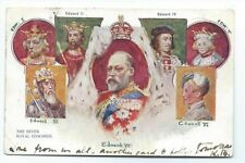 Royal Figure-Men Set Printed Collectable Royalty Postcards