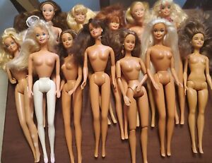 lot of 12 - 90s/2000s barbie dolls nude - overall good preowned condition