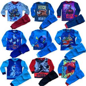 Boys Fleece Pyjamas TMNT Marvel Ant Man Star Wars Disney Frozen Olaf Penguins