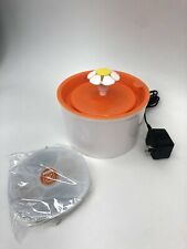Cat Water Flower Fountain (Orange)