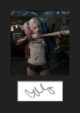 MARGOT ROBBIE (Suicide Squad - HARLEY QUINN) #3 A5 Signed Mounted Photo Print