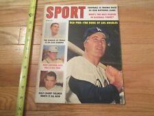 Los Angeles Dodgers Duke Snider Pro Baseball Sport Magazine 1960