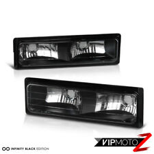 Black Turn Signal Bumper Lamp Light For Chevy GMC C10 C/K Series 1500 2500 3500