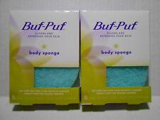2 ~ BUF-PUF BODY SPONGE ~ two buf puf body sponges double sided ~ BNIBs