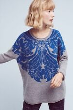 NWT ANTHROPOLOGIE Delft Jacquard Pullover Sweater by Eri + Ali sz. M