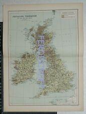 1901 Bartholomew map of prevailing Vegetation of the british isles