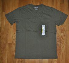 New Mens EDDIE BAUER Guide Green Cotton Pocket Basic T Shirt Size Medium