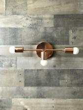 Mid Century Modern Brass Sputnik Starburst Urchin Wall Sconce Flush Mount Light