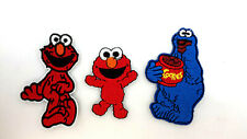 """Sesame Street 3"""" Embroidered Patch Set of 3- Elmo/Baby Elmo/Cookie Monster"""